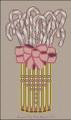 Vase of Pastel Candy Canes - Needlepoint Pattern