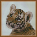 Tiger Cub NEEDLEPOINT PILLOW