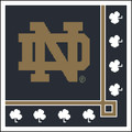Notre Dame with White Shamrocks