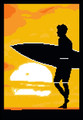 Surfer Sunrise Silhouette