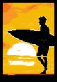 Surfer Sunrise Silhouette