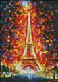 Paris Eiffel Tower Lighted