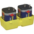 Barricades and Traffic Cones, Two Spring Top 6 Volt Batteries 2/Pk