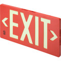 Glo Brite Exit Sign - Single Sided - ABS Plastic - Red