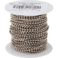 100' #6 Steel Beaded Chain - Nickel-Plated