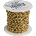 100' #6 Steel Beaded Chain - Yellow Brass