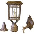 LED Craftsman Solar Lantern - Weathered Bronze - Clear Glass -