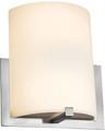 Fluorescent Wall Sconce, 26 Watt, Brushed Steel, Opal Glass