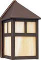 13 Watt Fluorescent Wall Lantern - Antique Bronze Finish -