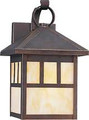 13 Watt Fluorescent Wall Lantern - Antique Bronze Finish