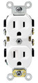 15 AMP COMMERCIAL GRADE DUPLEX RECEPTACLE - WHITE