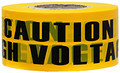 "3"" X 1000' Barricade Tape 3 Mil High Voltage - Yellow"