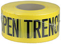 "3"" X 1000' Barricade Tape 3 Mil Open Trench - Yellow"