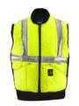 Large Saftey Vest Hi - Viz Lime w/Silver Reflective