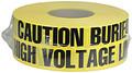 """3"""" X 1000' Underground Tape 4 Mil High Volt - Yellow"""