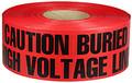 """3"""" X 1000' Underground Tape 4 Mil High Volt - Red"""