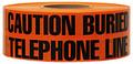 "3"" X 1000' Underground Tape 4 Mil Telephone - Orange"
