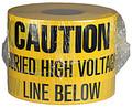 """6"""" X 1000' Underground Tape 4 Mil High Volt - Yellow"""