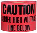 """6"""" X 1000' Underground Tape 4 Mil High Volt - Red"""