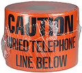"6"" X 1000' Underground Tape 4 Mil Telephone - Orange"