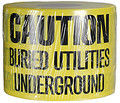 "6"" X 1000' Underground Tape 4 Mil Utilities - Yellow"