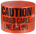 "6"" X 1000' Underground Tape 4 Mil Cable - Orange"