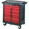 "33 x 19 x 32"" Rubbermaid 5-Drawer Work Utility Cart"