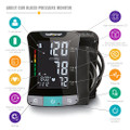 Premium Talking Digital Arm Blood Pressure Monitor With Standard And Large Cuffs