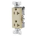 COOPER 20A DECORA TYPE GROUNDING DUPLEX RECEPTACLE IVORY 6352V-BU
