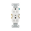 COOPER 15A  TAMPER RESISTANCE GROUNDING STANDARD DUPLEX RECEPTACLE WHITE TR270-9W