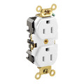COOPER 15A SPEC GRADE BACK AND SIDE WIRE GROUNDING STANDARD DUPLEX RECEPTACLE WHITE 5262W