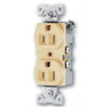 COOPER 15A SPEC GRADE BACK AND SIDE WIRE GROUNDING STANDARD DUPLEX RECEPTACLE IVORY 5262V