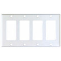 COOPER DECORATOR WALLPLATE FOUR  GANG COVER WHITE 2164W -BOX