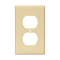COOPER ONE GANG DUPLEX RECEPTACLE WALLPLATE COVER IVORY 2132V-BOX