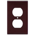 COOPER ONE GANG DUPLEX RECEPTACLE WALLPLATE COVER BROWN 2132B-BOX