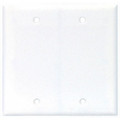 COOPER TWO GANG BLANK COVER THERMOSET WALLPLATE COVER WHITE 2137W-BOX