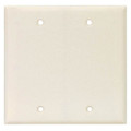 COOPER TWO GANG BLANK THERMOSET WALLPLATE COVER ALMOND 2137A-BOX