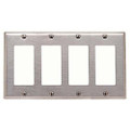 MULBERRY FOUR GANG DECORA STAINLESS STEEL WALL PLATE COVER 97404