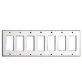 MULBERRY SEVEN GANG DECORA STAINLESS STEEL WALL PLATE COVER 97407