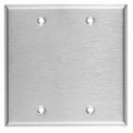 MULBERRY TWO GANG STAINLESS STEEL BLANK WALL PLATE COVER 97152