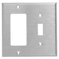MULBERRY TWO GANG DECORA/TOGGLE STAINLESS STEEL WALL PLATE COVER 97432