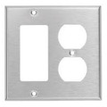 MULBERRY TWO GANG DECORA/DUPLEX RECEPTACLE STAINLESS STEEL WALL PLATE COVER 97672