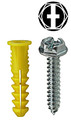#10 Anchor Kit Hex/Phillips/Slotted with #122 Yellow Wing Anchor