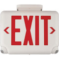 LED Combination Exit/Emergency Light, Red Letters, White