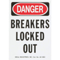"Idea Breakers ""Locked Out"" Magnetic Sign"