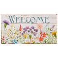 "24"" Wildflower Welcome Wood Wall Art"