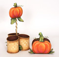 Pumpkin Caddy and Napkin Holder Set