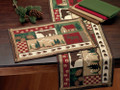 Log Cabin Tapestry Table Runner