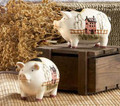Country Pig Salt and Pepper Shakers