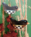 Set of 3 Crows on stakes